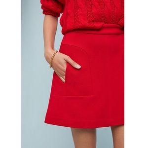NWT Anthropologie Maeve Novato Red Skirt Size 14
